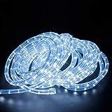 kefflum LED Lichterschlauch Lichtschlauch Lichterkette Licht Leiste 36LEDs/M Schlauch für Innen und Außen IP65 6M Kaltweiß