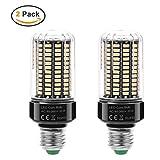 AiteFeir 2er Pack 20W E27 LED Lampe Mais Licht Ersatz für 88W Glühlampe 360° Abstrahlwinkel 5736SMD Leuchtmittel LED Birne 20W 6000K 1400 Lumen Energiesparend Beleuchtung AC 85V - 265V Warmweiß