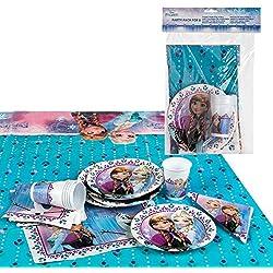Disney - Pack de fiesta reciclable Frozen - mantel + platos + vasos + servilletas (ColorBaby 71915)