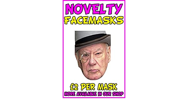 All Our Masks Are Pre-Cut! Sir Patrick Moore Celebrity Card Mask