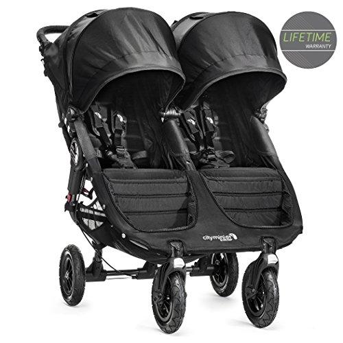 Baby Jogger City Mini GT-Kinderwagen, Double-Modell, schwarz (BJ16410)