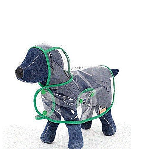 Hund Regenmantel Kleine Hund Regenschirm Welpen Vierbeinigen Wasserdichte Poncho Haustier Kleidung, Farbe Größe Optional. (Farbe : Green, größe : XL)