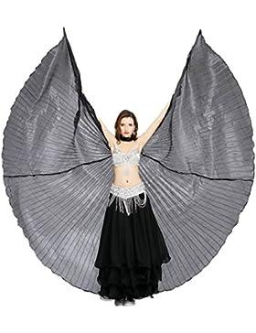 Dance Fairy Alas de Isis Danza del Vientre Trajes de la Etapa / Props con palos / Barras,Negro