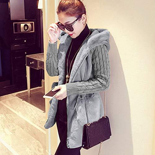 Damen Jacke Slim Gestrickt Solide Mantel Strickjacke Pullover Outwear Kurz Fall