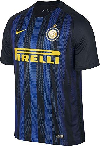 Nike Inter de Milán M SS Hm Stadium JSY Camiseta de Manga Corta, Hombre, Negro (Black/Royal Blue/OPTI Yellow), S