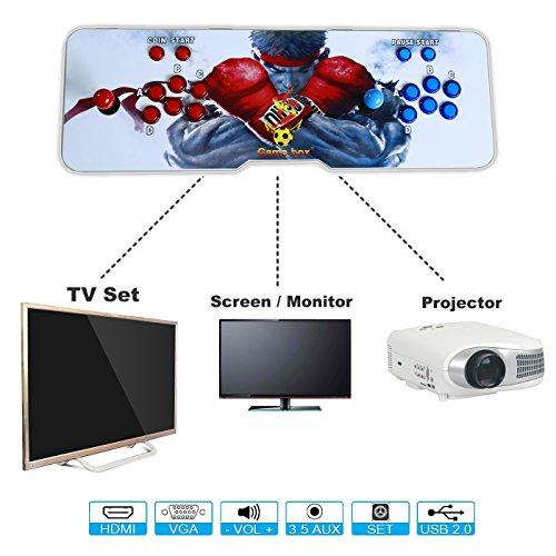 Hikig 2 jugadores iluminados con luz LED Pandora Box 4s más 815 juegos de videoconsola Arcade Soporte de salida HDMI y VGA para PS3 PC TV