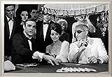 EMPIRE Merchandising–Poster James Bond Poster Lady Luck mit Zubehör ALU-Rahmen silber
