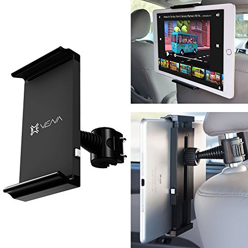 VENA [One Hand] Universal Headrest Back Seat Car Mount Holder for iPad, Tablets, Cell Phones and GPS Devices (HEADTAB) - Compatible with iPad Air, iPad mini, Sansung Galaxy Tab 4 (7.0, 8.4, 10.1), Galaxy Note 10.1, Nexus 7 FHD, iPhone 6, 6 Plus, 5/5S, 5C, Samsung Galaxy S5, S5 Active, S4, S3, Galaxy Note Edge, Note 4, Note 3, Note 2, LG G3, G2, G Flex, HTC One (M8), One (M7), Motorola Moto G (2nd Generation), Moto X, Nexus 6, Nexus 5 and More  available at amazon for Rs.2549