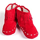 BABY BUCKET Baby Shoes Boots Crib Shoes Fleece Prewalker Boots-Red