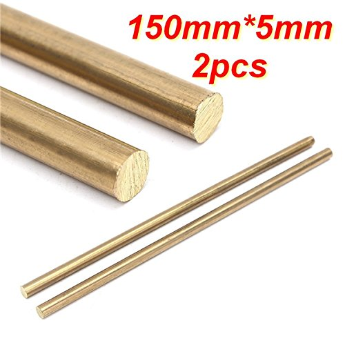 cococina 2150mm x 5mm Messing Rod Bar Hardware Solide Runde Ruten (2 Rod Rute)