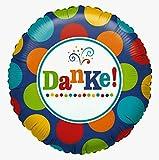 Danke Folienballon Helium Geburtstag mit Ballongas gefüllt Hilfe Geschenk Geld Leistung 45cm
