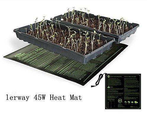 Lerway 45 Watt 20 x 20 Zoll Heizmatte für Zimmergewächshaus, Haustier Bett, Wärmematte Pflanzen Füße,Terrarium Tiere, Gewächshaus Thermostat Ac-wärme-thermostat