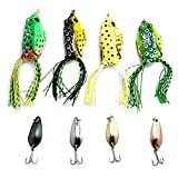 Zooshine mini pesca duro esca spinner Spinnerbait per Pike Bass Catfish, 4Soft Lures + 4Hard Lures, S