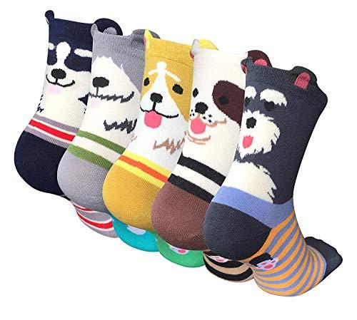 LOFIR Sneaker Socken Damen Baumwoll Socken Süß Tier Karikatur Socken lässige Sports Chule Socken lustig Kawaii Socken Neuheit Crew Socken für Größe 35-41, 2/5/10 Paare