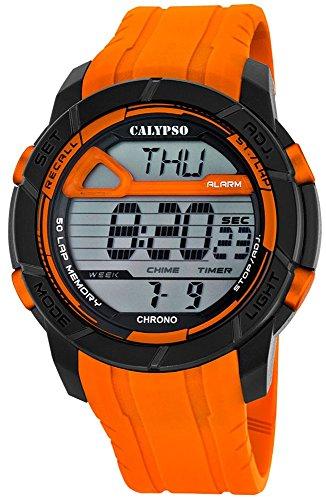 Calypso Señor Reloj de pulsera cuarzo reloj reloj de plástico con Poliuretano banda de alarma Cronógrafo digital 4tiempos de alarma todos los modelos k5697, variante: 03