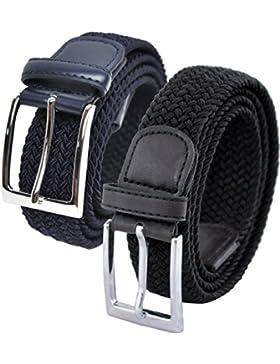 Ashford Ridge Hombres 2 cinturones elásticas Set de Regalo (cintura tamaños 80cm - 150cm)