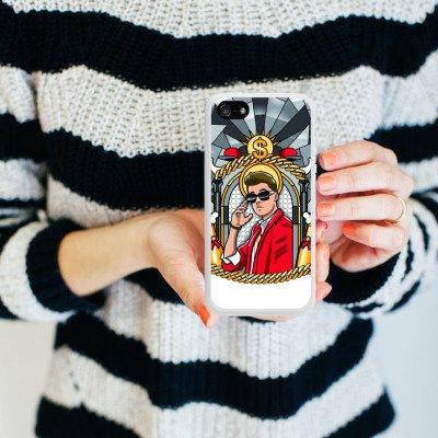 Apple iPhone 5c Housse Outdoor Étui militaire Coque Justin Bieber Dollar Champagne Housse en silicone blanc