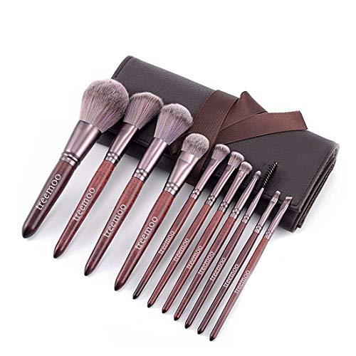 Treemoo - Juego de brochas de maquillaje 11 piezas