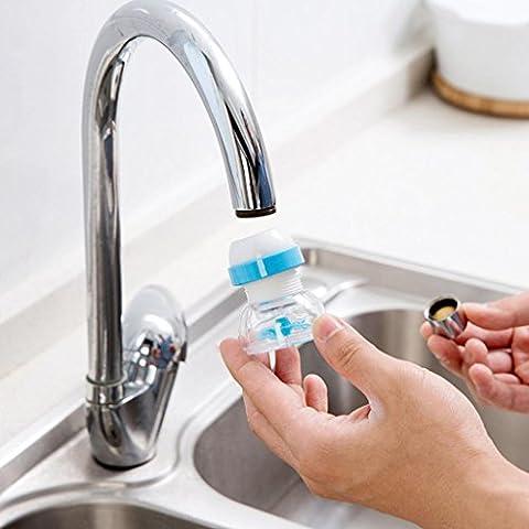 Hunpta robinet Splash d'économie d'eau Douche de bain Valve filtre appareils Accessoires de Cuisine bleu