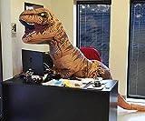 AUFBLASBAR Dinosaurier T-REX© ERWACHSENE Kostüm Jurassic Park Blowup Party carryme -