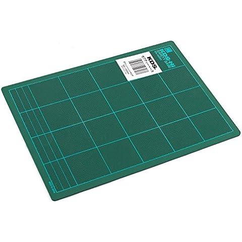 KDS SS-1000H - Base de corte con plantilla (Tabla para medir y cortar) - 300 x 220 x 3 mm - Color: Verde (Cutting Board)