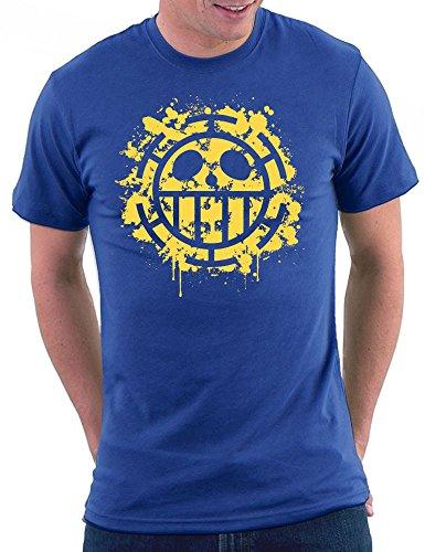 Heart Pirates Splattered T-shirt Royal