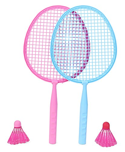 Peppa Pig Badminton set packed in PVC carry case for Children of age 3 to 8 years| Premium Quality | Certified Safe as per European Safety Standards (EN71) | Sports development toys for Kids | Pink Color | Includes 1 Pair of Rackets and 2 Shuttle Cock?