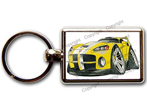 dodge-viper-new-shape-sports-car-official-koolart-quality-chrome-keyring-picture-both-sides-choose-a