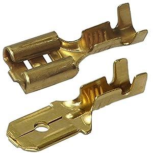 Aerzetix: 200x Cosse électrique mâle femelle plate 6.3mm 0.8mm 0,5…1,5mm2 C11337C11451 pas cher – Livraison Express à Domicile