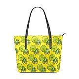 Eslifey Green Turtles Portemonnaie PU Leder Schulter Tasche Tasche für Damen Mädchen Damen