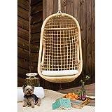 #6: Indoor Outdoor Designer Furniture Rattan Modern Swing Chair with Accessories