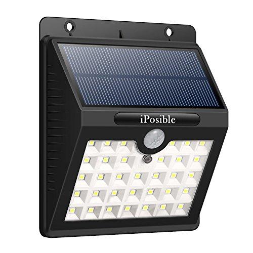iPosible Luce Solare con Sensore di Movimento, 【3 Modalità-1200mAh】 33 LED Lampada Solare LED Esterno Impermeabile Luci Solari da Parete Wireless Lampade Solari per Giardino,Patio