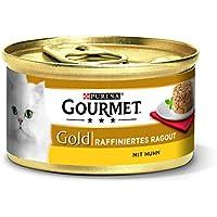Purina Gourmet Gold Raffiniertes Ragout Katzennassfutter, 12er Pack (12 x 85g Dose)