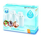 Pack of 3 Dafi Classic Water Filter Cartridges for Brita Classic and Dafi Classic Jugs