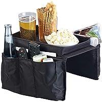 infactory Sofa-Armlehnen-Organizer: Sofa-Organizer mit 5 Taschen und Ablagefläche für Snacks und Getränke (Sofa-Ablage)