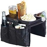 infactory Sofa-Armlehnen-Organizer: Sofa-Organizer mit 5 Taschen und Ablagefläche für Snacks und Getränke (Aufbewahrungtasche)