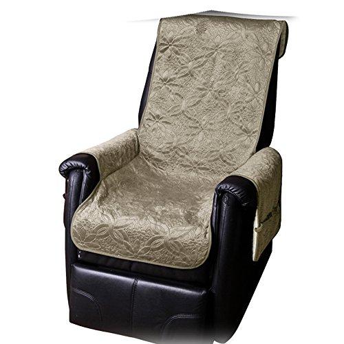 JEMIDI Sesselschoner mit Seitentaschen Lammflor Sesselschoner Sesselauflage Überwurf Sesselüberwurf Sesselbezug Polster Sofaüberwurf Sesselschützer Sesselbezug Schonbezug (Schlamm)