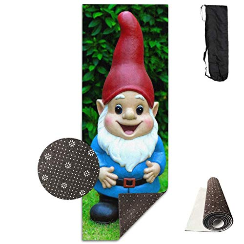Feng Mei Yan Jiu Fitness Yoga Mat YogamattenCute Girl Garden GNOME Model Unique Non-Slip Pattern Towels,Pilates Sports Paddle Board Yoga Exercise 24 X 71 Inches Durable Yoga Mats -