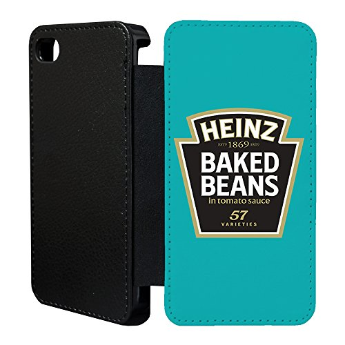 Price comparison product image Food Snacks Flip Wallet cover case for Apple iPhone 6 & 6S - Heinz baked beans - G1007
