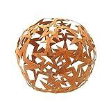 Sternen Kugel Metall Rost Gartendeko 40cm Edelrost