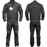 Germanwear 2-piece motorcycle suit, Cordura textiles, motorcycle jacket and motorcycle trousers, black, size: