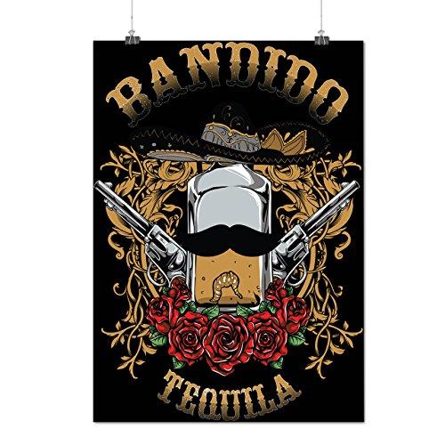 Bandido Tequila Rose Mexiko Gewehr Mattes/Glänzende Plakat A3 (42cm x 30cm) | Wellcoda (Bandido Kostüm)