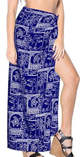 Bikini-Vertuschung-Damen Anzug Sarong Bademode swimwear Resort Blau Baden (Baden-abdeckung Sarong)