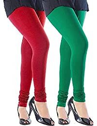 Leggings For Women (Combo Of Ruby Style Women's High Quality Stretchable Cotton Churidaar Multi Color Plain Legging...