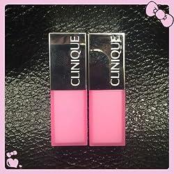CLINIQUE 2 LOT Pop Glaze Sheer Lip Colour + Primer Bubblegum Pop .08 oz each