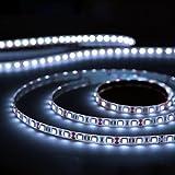 Aglaia LED Streifen Licht Lichtleiste, 5M 300 LEDs Wasserfest Kaltweiß, für Beleuchtung und Küche, TV Hintergrundbeleuchtung, unter Schrank, Terrasse, Balkon, Party und Haus Deko