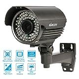 """KKmoon 1080P AHD Bullet Caméra Analogique CCTV 2.8 ~ Manuel 12mm Zoom Varifocale 1/3"""" pour Sony CMOS 2.0 MP IR-Cut 72 IR LEDs Night Vision Résidentielle Intérieure Extérieure Sécurité Système PAL"""