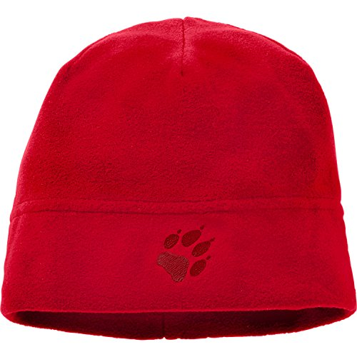 Jack Wolfskin Kinder Real Stuff Mütze, Ruby red, One Size (49-55CM)