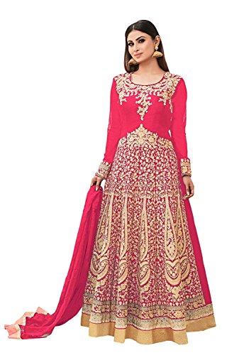 DynaBella Women's Silk New Arrival Fancy Salwar suit for Wedding Wear Punjabi...