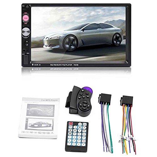 SODIAL 7023B 2 din auto audio lettore multimediale stereo Touch screen da 7 pollici Supporto lettore...